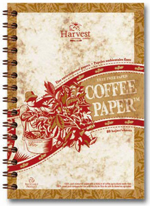 eco paper, journal made of coffee