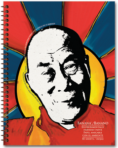 eco paper notebook with dalai lama image