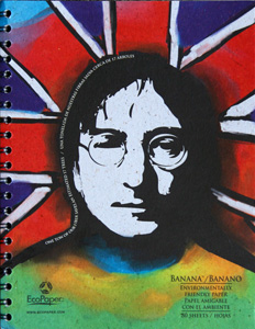 eco paper notebook with john lennon image