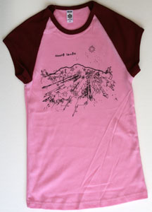 cotton t-shirt with Mount Shasta print