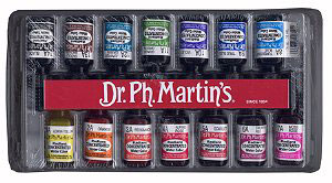 art supplies, dr.ph.martin's Radient Concentrated Watercolors