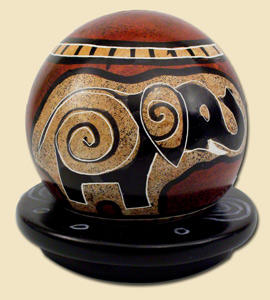 soapstone ball, fairtrade made kenya, africa