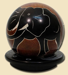 soapstone ball  fairtrade made kenya, africa