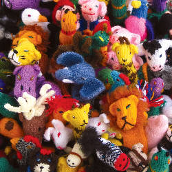 fairtrade hand knitted finger puppets