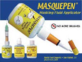 art supplies masquepen accessories & Sets, Multi Vendor Co. Masquepen minimizes work and eliminates mess by combining masking fluid and brush – simplifying the process of protecting areas of a painting from paint