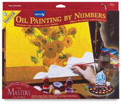 painting by number kit with flowers