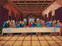 last supper painting by number kit