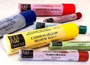 art supplies  r&f pigment sticks