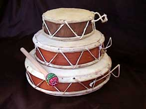 fairtrade gift double sided skin drums made in Peru